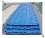 O zinco galvanizado revestiu a chapa de aço ondulada colorida curvada folha da telhadura