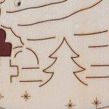 在庫のスノーマンが付いている木の蝋燭ホールダー