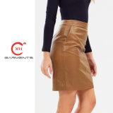 Xh producir prendas de vestir falda de cuero de calidad