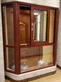 Bovindo di alluminio della venatura del legno classica (BHA-CW21)
