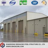Edificio de marco de acero para el taller con el almacén