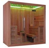 Quarto novo da sauna do calefator de madeira leve luxuoso de Harvia do cedro do diodo emissor de luz (M-6044)