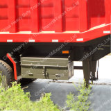 後部傾きの実用的なトレーラー頑丈な60-80トンのかダンプのトレーラー