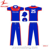 Ropa deportiva Healong diseño del logotipo de cualquier color a tu equipo camisetas de Cricket