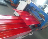 Chapa de aço galvanizada corrugada 0.125-0.5mm da folha da telhadura para a construção
