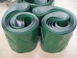 Nastro trasportatore verde/bianco di bassa potenza del PVC Matt/superficie regolari di lucentezza