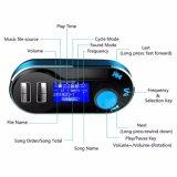Trasmettitore senza fili di Bluetooth FM del giocatore di MP3 dell'automobile Bt66 per due kit del caricatore dell'automobile dell'affissione a cristalli liquidi di deviazione standard del USB