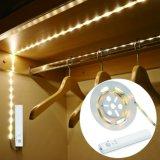 Flexibele van de leiden- Strook de Lichte Lamp Op batterijen van het Bed van de Garderobe van de Sensor van de pir- Motie