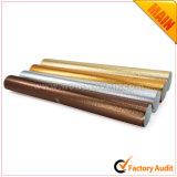 Блестящий серебристый металлик Gold нетканого материала с покрытием ткани для сумки