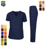 Médico de la clínica de enfermería de manga corta pantalones conjuntos Tops uniformes