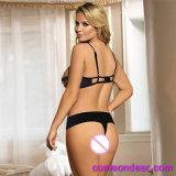Cuatro nuevo estilo transparente de tamaño de la Fantasía Sexy Bra Panty Set