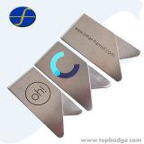 Bon marché en vrac Logo d'impression papier métallique en acier inoxydable de Clip