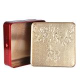 包み、クッキーの包装月ケーキのために包む熱い販売の正方形の錫ボックス