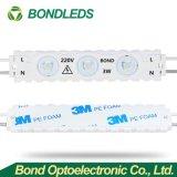Alto potere di CA 220/110 V che fa pubblicità al modulo impermeabile LED dell'iniezione chiara della casella