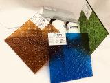 Teintée de bleu, Bronze, jaune, rouge clair de la flore ont figuré en verre à motifs (FP-TP)