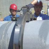 Tubo montados en el exterior de la máquina de corte y biselado