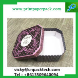 Elegante favorece el anillo de regalo de bodas Heart-Shaped Box dos piezas del joyero
