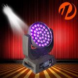 36*18W UV RGBWA 6NO1 Lavar a cabeça móvel LED de iluminação de palco