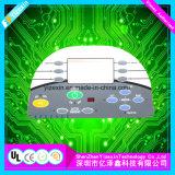 Superposition de graphiques en plastique de l'interrupteur du panneau en caoutchouc de la Chine Manafacturer