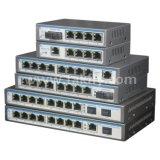 1.25g 24port 1000Mbps Poe Ethernet-Schalter mit 2RJ45 2SFP Uplink-Kanal