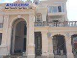Le bardage extérieur paroi calcaire calcaire Vratza Portugal Moca crème façade beige pour mur de calcaire et de dalles