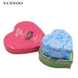 L'impression personnalisée Mariage Cadeau de forme de coeur de l'étain peuvent le cas pour l'emballage Boîte en métal