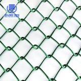 PVC塀のための上塗を施してあるチェーン・リンクの網