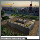Hotel de lazer/casa moderna impermeável Espreguiçadeira jardim exterior tecido Uphostery Sofá-defina a mobília do pátio