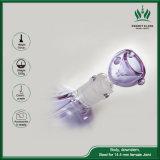 17inch purpurroter Glassbong drei Pilz-internes Minigefäß-Glas-rauchendes Wasser-Rohr
