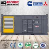 Fatoryのバックアップジェネレータ900kVA 1000kVAの防音の容器によって使用されるディーゼル発電機セット