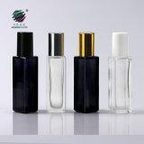 El lujo 10ml 1/3oz claro Square Perfume Rollo en botellas de vidrio con rodillos metálicos