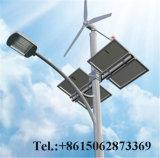 Venta caliente polo 8M 60W de iluminación exterior LED de Viento Solar Híbrido calle la luz solar