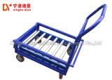 Chariot en acier inoxydable Heavy-Loading main avec 4 Roulettes polyuréthane