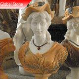 Sculpté à la main buste en marbre naturel (GSBST-121)