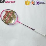 Rose, le 68 gramme le plus léger des poids utilisé japonais Toray 46t OEM en fibre de carbone graphite ODM Raquette Badminton personnalisé