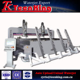 De aangepaste CNC Schurende Machine van de Straal van het Water met de Versmalling van Beveling van 5 As