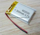 Prismatische Li-Polymeer Navulbare Batterij 602030 3.7V 300mAh