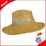 Chapéu da mulher de Panamá da palha do Raffia