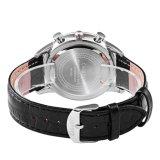6832multi-función de reloj de pulsera con empujadores Ss Hebilla Correa de cuero