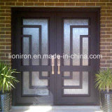 豪華なホームによって使用される錬鉄の機密保護のドアの外面の位置