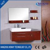 Cabina de cuarto de baño montada en la pared de madera sólida de la alta calidad