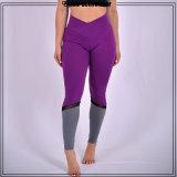 OEMの工場網のレギングのヨガの摩耗の女性の紫色のヨガの衣服