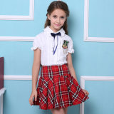 새로운 Design 100%Cotton는 International Primary School Uniforms를 관례 만들었다