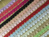 다채로운 수용성 레이스 꽃 자수 레이스