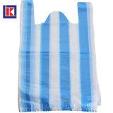 HDPE 색깔 검정에 의하여 분리되는 플라스틱 t-셔츠 쇼핑 백