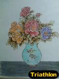 Pintura do ferro da figura/paisagem/flor/ainda da vida/animal 2