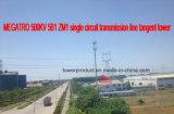 Megatro 500kv 5b1 Zm1 Línea de transmisión de un solo circuito de la torre de la tangente
