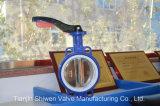 Valvola a farfalla di alluminio della cialda della maniglia con il certificato di iso del Ce