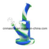 Tubulação de água pequena portátil da tubulação do silicone de Camo (DD6)