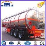 3 차축 52cbm 반 알루미늄 디젤 엔진 휘발유 연료 실용적인 유조 트럭 트레일러